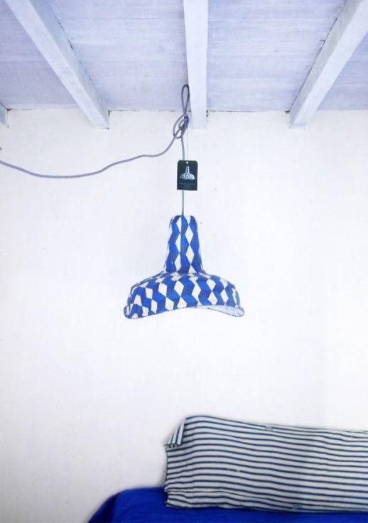 blue paper lamp