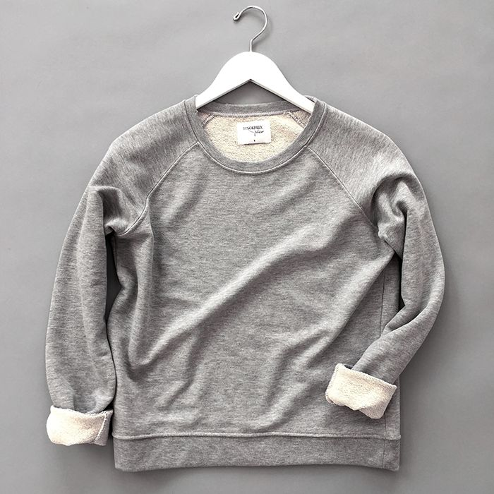 distressed grey sweater