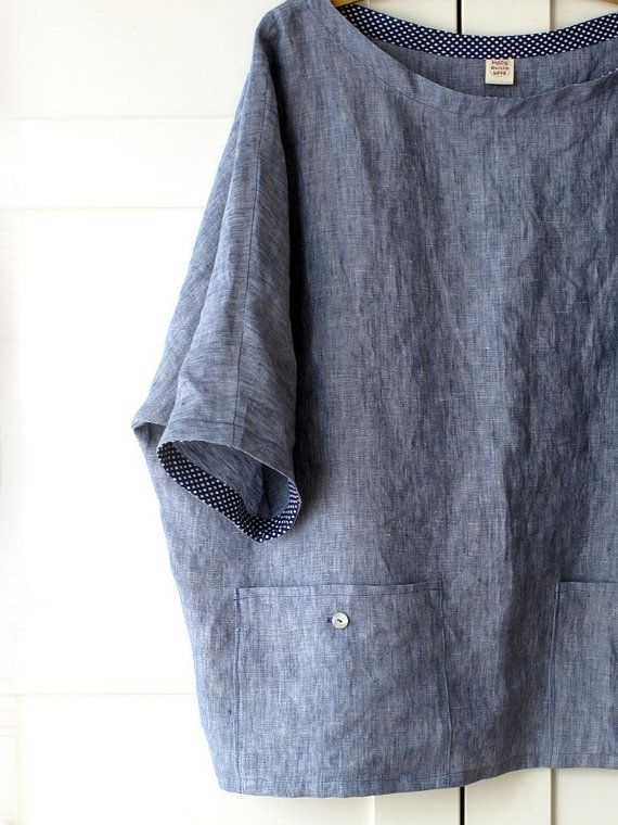 linen tunic oversized