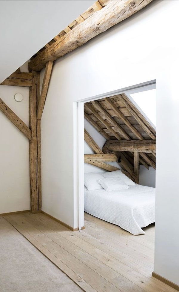 attic with beams