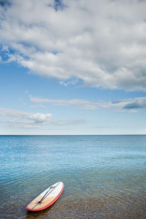 paddle on the sea