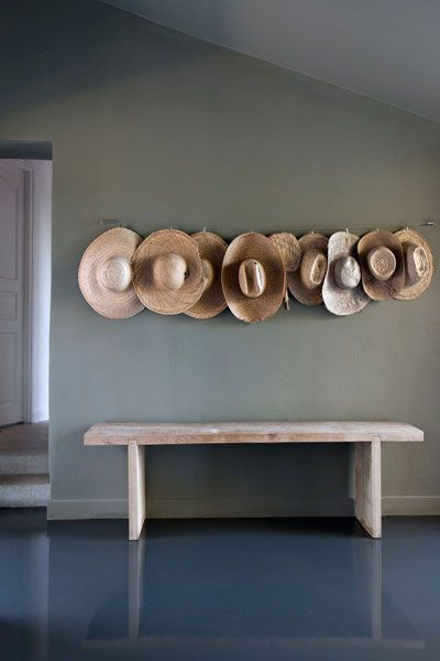 hats on wall
