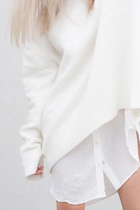 blanc sur blanc - angora jumper