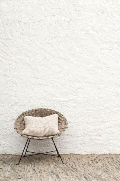 mid-century rattan chair