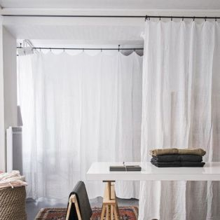 Muslin linen curtain by Secret Maison