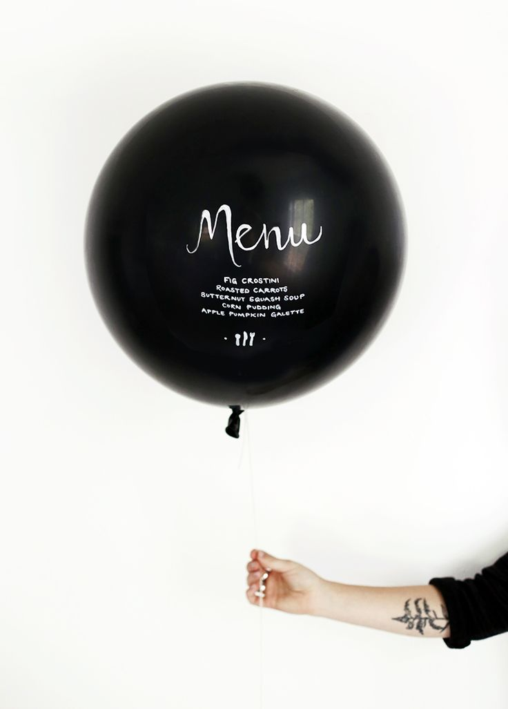 DIY menu baloon