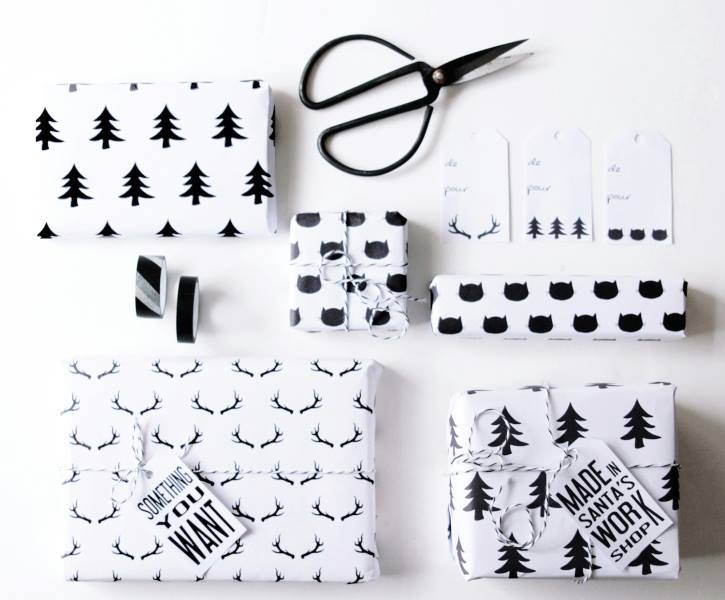 free printables wrapping paper
