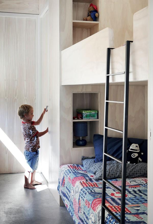kid room made of wood