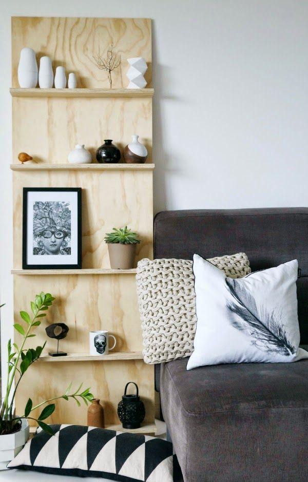 plywood shelf unit