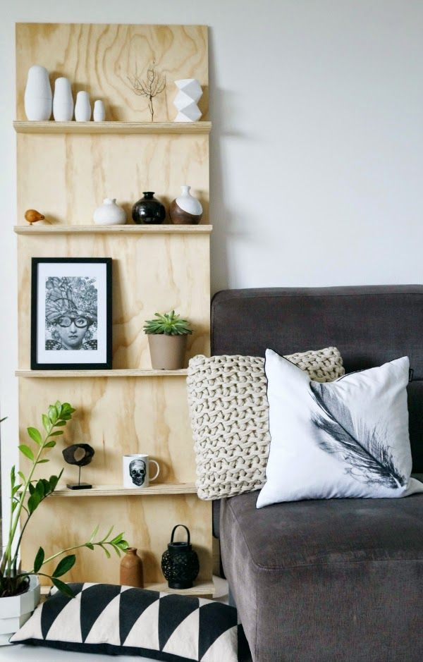plywood shelf unit