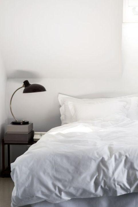 lit blanc coton