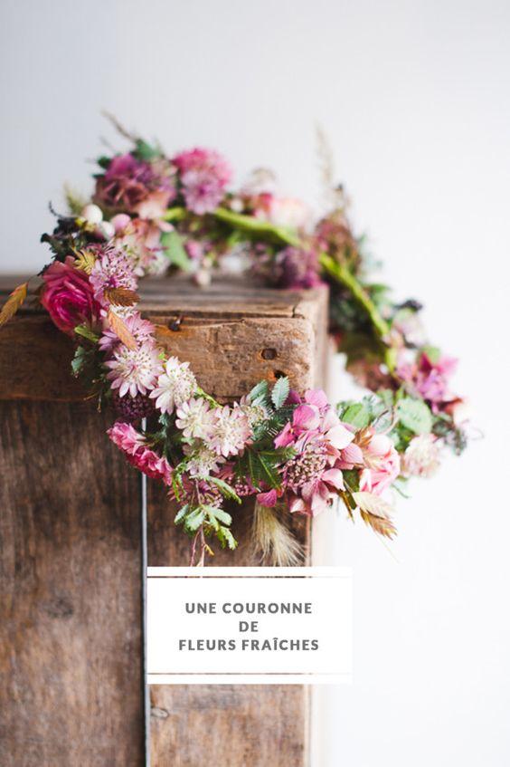 collier de fleurs diy
