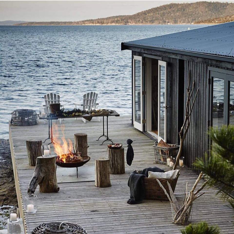 The deck in US Conde Nast Traveler Mag