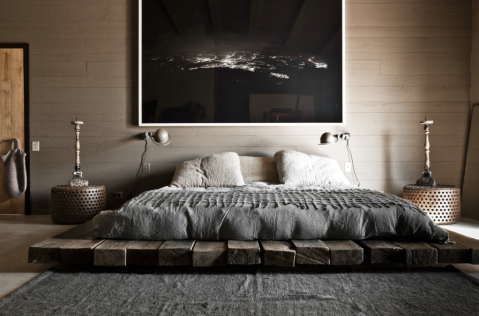 wabi bedroom via Milk Magazine