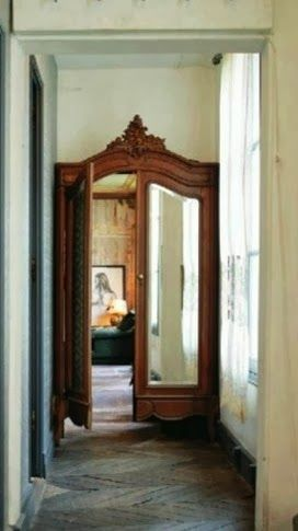 Antique closet door
