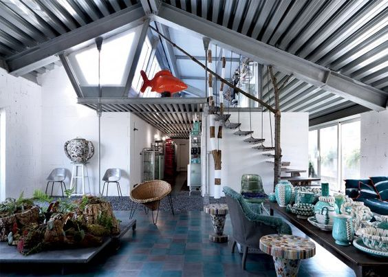 Paola Navone Industrial home Milan 4