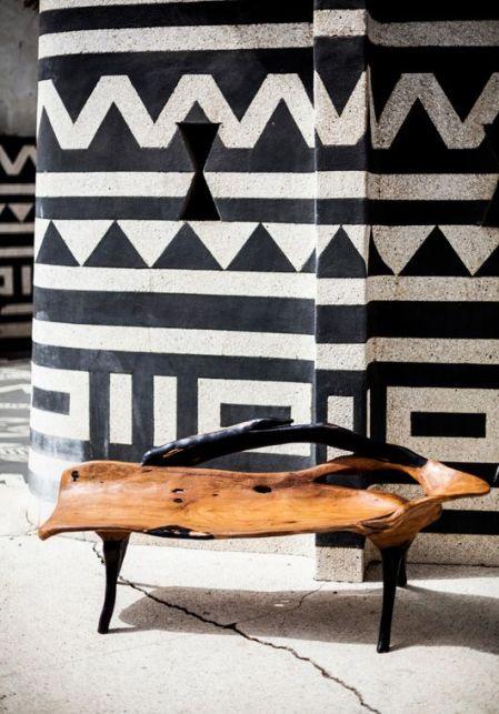 banc-et-mur-dinspirations-africaines