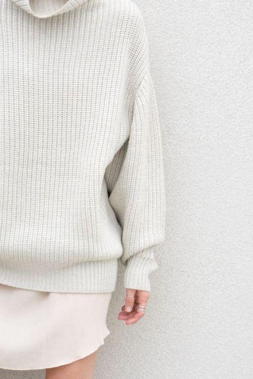large-wool-sweater-with-silk-nightdress